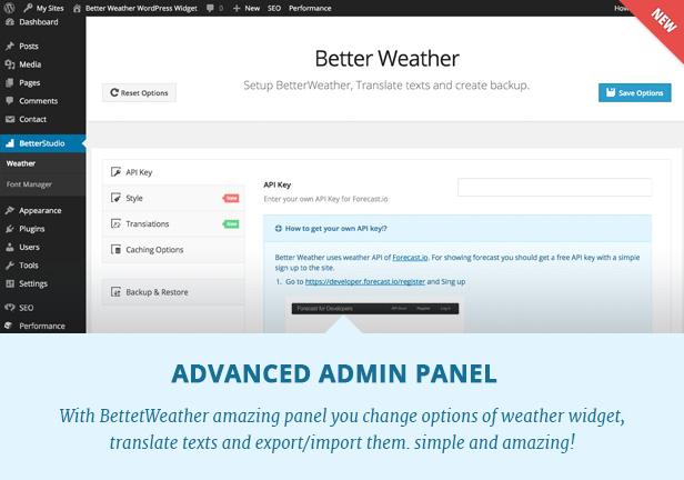 Better Weather - WordPress and Visual Composer Widget 5