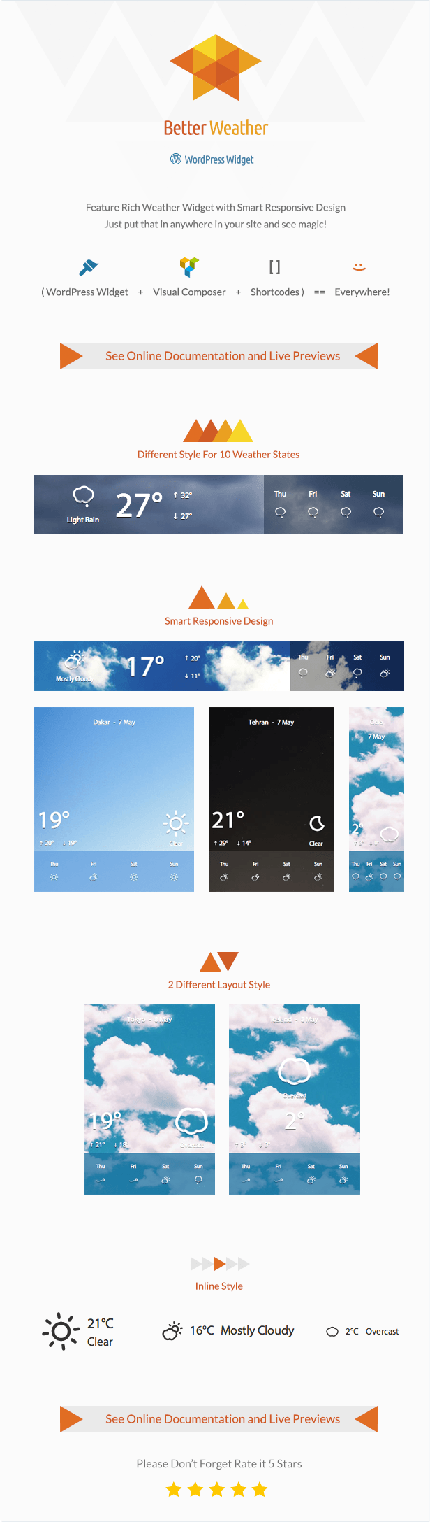 Better Weather - WordPress and Visual Composer Widget 4