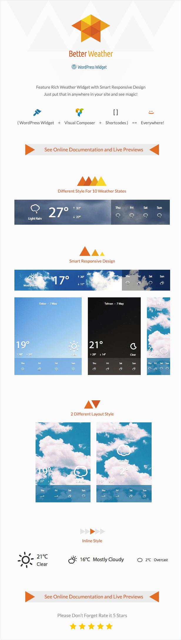 Better Weather - WordPress and Visual Composer Widget 4