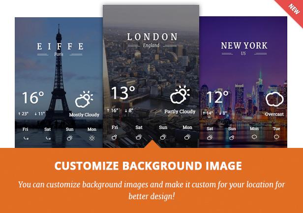 Better Weather - WordPress and Visual Composer Widget 3