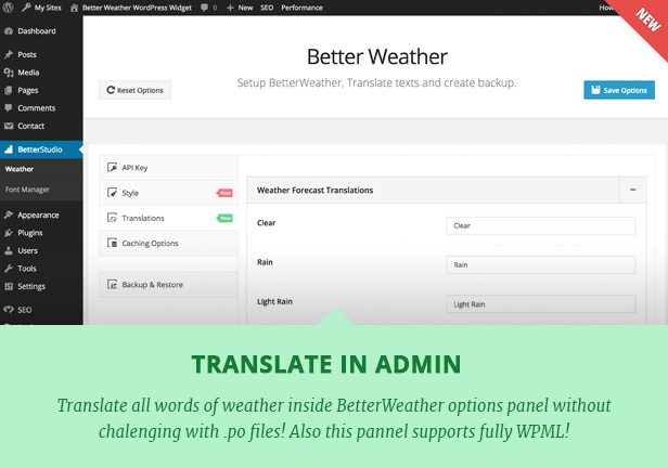 Better Weather - WordPress and Visual Composer Widget 6